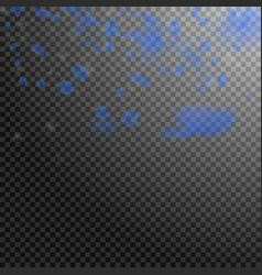 Dark blue flower petals falling down beauteous ro vector