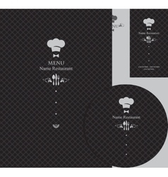 Design elements for a restaurant vector