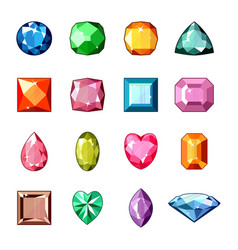 Diamond crystal stone and gem or precious vector