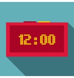 Digital clock icon flat style vector