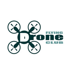 Drone icon drone flying club text vector