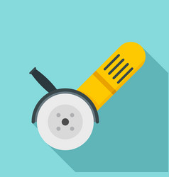 electric angle grinder icon flat style vector image