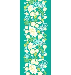 Emerald flowerals vertical seamless pattern vector