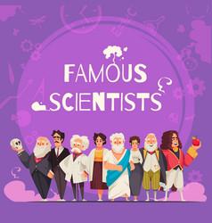 Famous scientists square composition vector