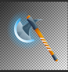 fantasy medieval hatchet isolated game element vector image