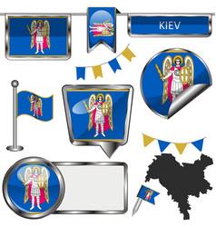 Flags kiev ukraine vector