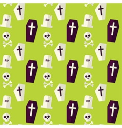 Flat Seamless Death Halloween Pattern vector