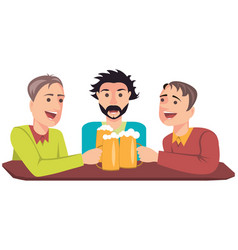 Friends with beer vector