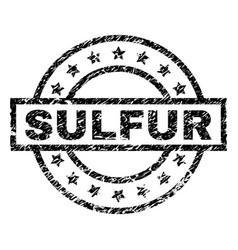 Grunge textured sulfur stamp seal vector
