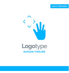 hand hand cursor up croup blue solid logo vector image