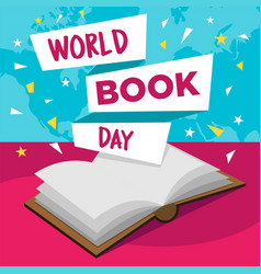 happy world book day vector image