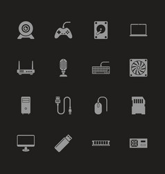 Hardware - flat icons vector