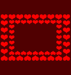 heart red pattern vector image