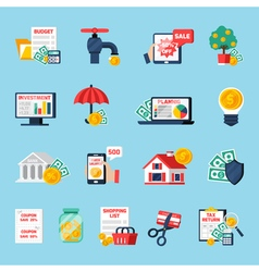 Home Budget Icons Set vector image