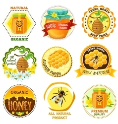 Honey Emblem Set vector