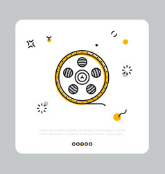 icon of filmstrip on reel vector image