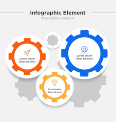 Infographic element three gear combination symbol vector