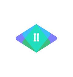 initial letter logo ii template design vector image