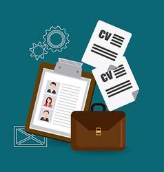 Job digital design vector
