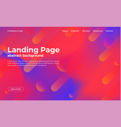 Landing page template abstract background with vector