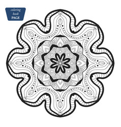 mandala coloring book pages indian antistress vector image