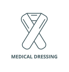 Medical dressing line icon linear concept vector