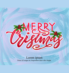Merry chirstmas modern calligraphy lettering on vector