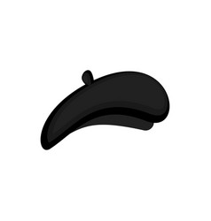 mime black beret isolated mimic cap vector image