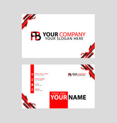 Modern business card templates with fb logo vector