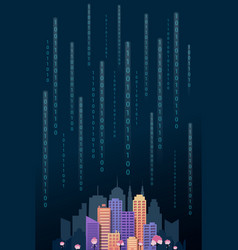 modern cityscape digital vertical template vector image