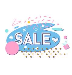 modern dynamic fluid banner for sale flat vector image