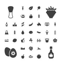 Natural icons vector
