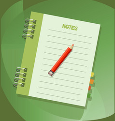 notes notebook icon emblem vector image
