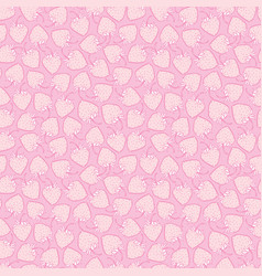 Pink monochrome small strawberries seamless vector