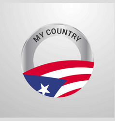 puerto rico my country flag badge vector image