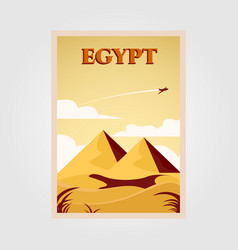 Pyramid symbol on dessert design egypt vintage vector