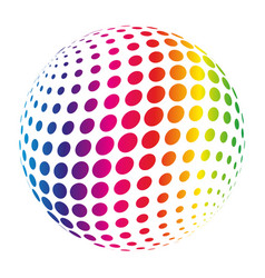 Rainbow spectrum sphere abstract vector