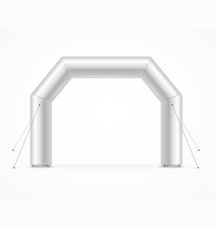 realistic detailed 3d blank square inflatable vector image