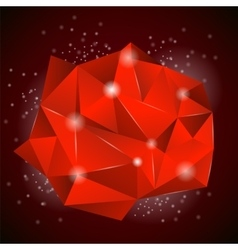 Red Polygonal Stone vector image
