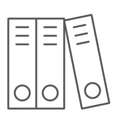 ring binder thin line icon office and work vector image