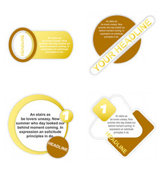 sale tag set of circle flash sticker offer banner vector image