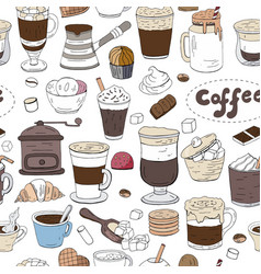 seamless pattern with hand drawn elements of vector image