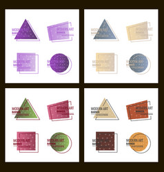 Set of a minimalistic hipster colored frame vector