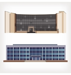 Set of two of modern buildings vector image
