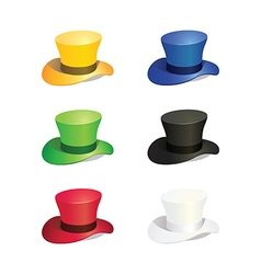 Six Colors Top Hat vector image
