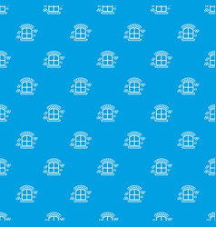 Small window frame pattern seamless blue vector