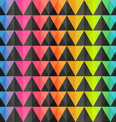 spectrum triangle seamless pattern vector image
