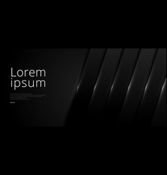 Template abstract banner web black overlap layer vector