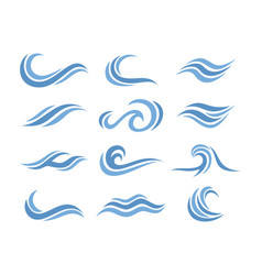 Template abstract wave logo set vector