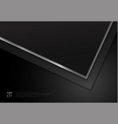 template black geometric triangle corner overlap vector image